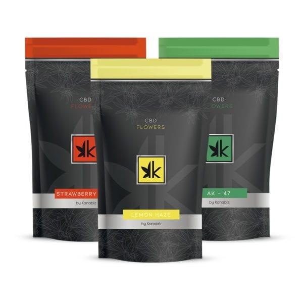 Kanabiz cannabis CBD legal flower Silver Pack Front 1